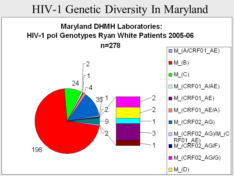 HIV-1 Genetic Diversity In Maryland