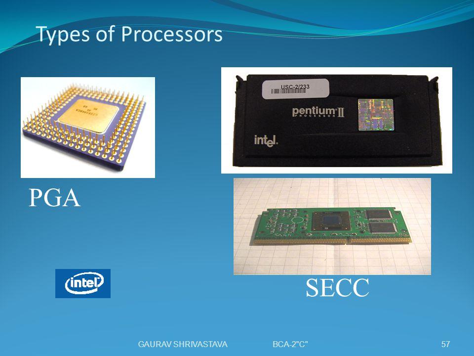 Types of Processors SECC PGA 57GAURAV SHRIVASTAVA BCA-2 C