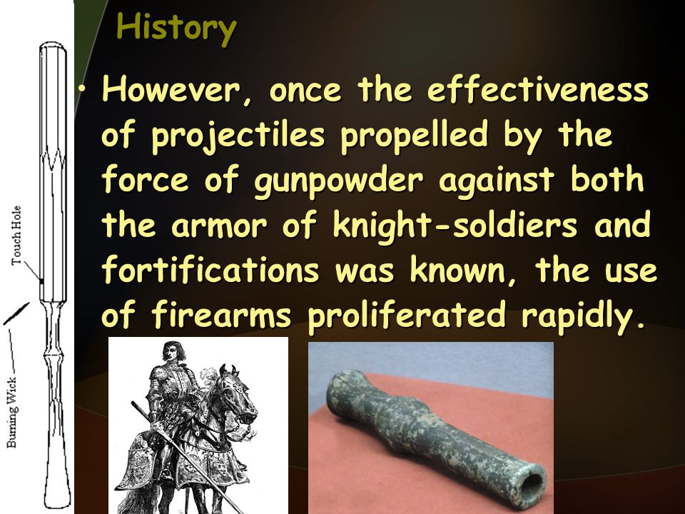 History Gunpowder, made of a mixture of sulfur, charcoal, and saltpeter (potassium nitrite), owes its explosive force to the fact that 1 mole of solid powder will, when ignited, produce 6 moles of gas.Gunpowder, made of a mixture of sulfur, charcoal, and saltpeter (potassium nitrite), owes its explosive force to the fact that 1 mole of solid powder will, when ignited, produce 6 moles of gas.