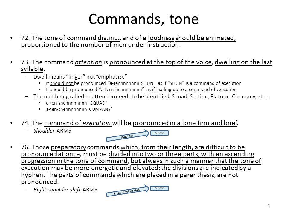 Commands, tone 72.