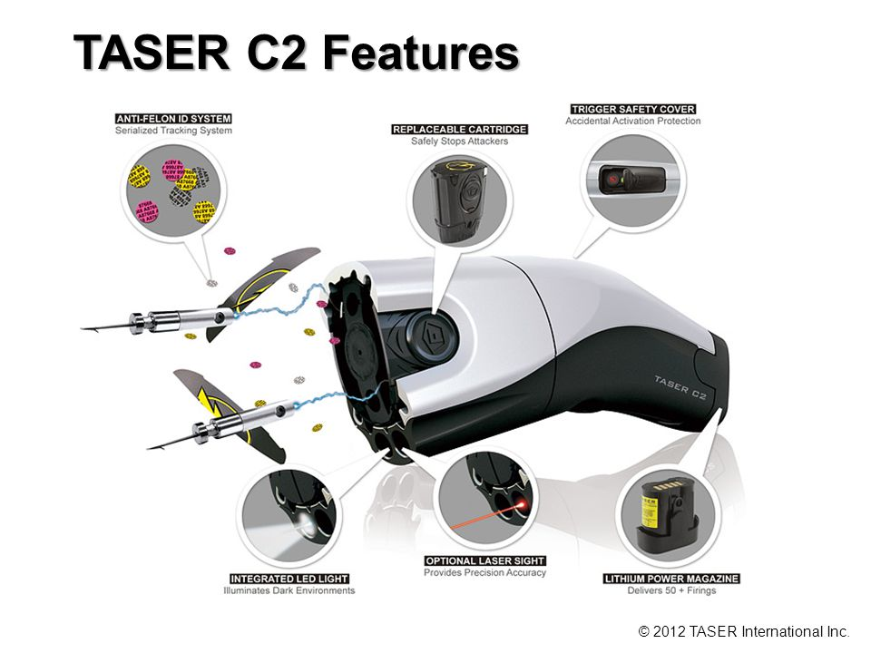 TASER C2 Features © 2012 TASER International Inc.