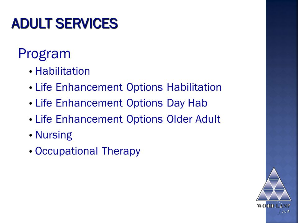 Program Habilitation Life Enhancement Options Habilitation Life Enhancement Options Day Hab Life Enhancement Options Older Adult Nursing Occupational Therapy