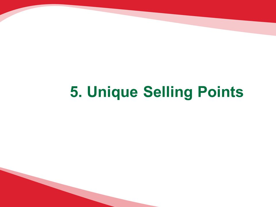 5. Unique Selling Points