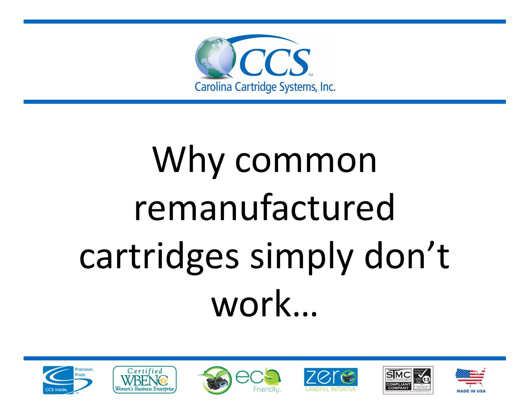 Why common remanufactured cartridges simply dont work…