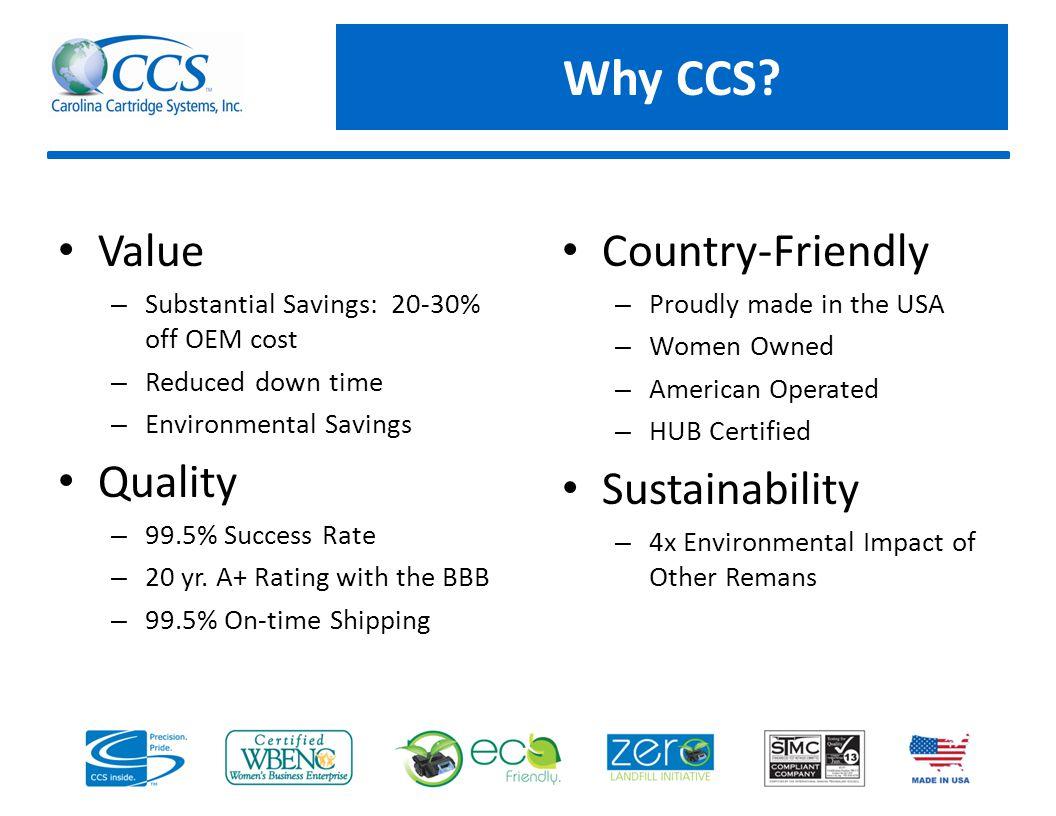 Why CCS.