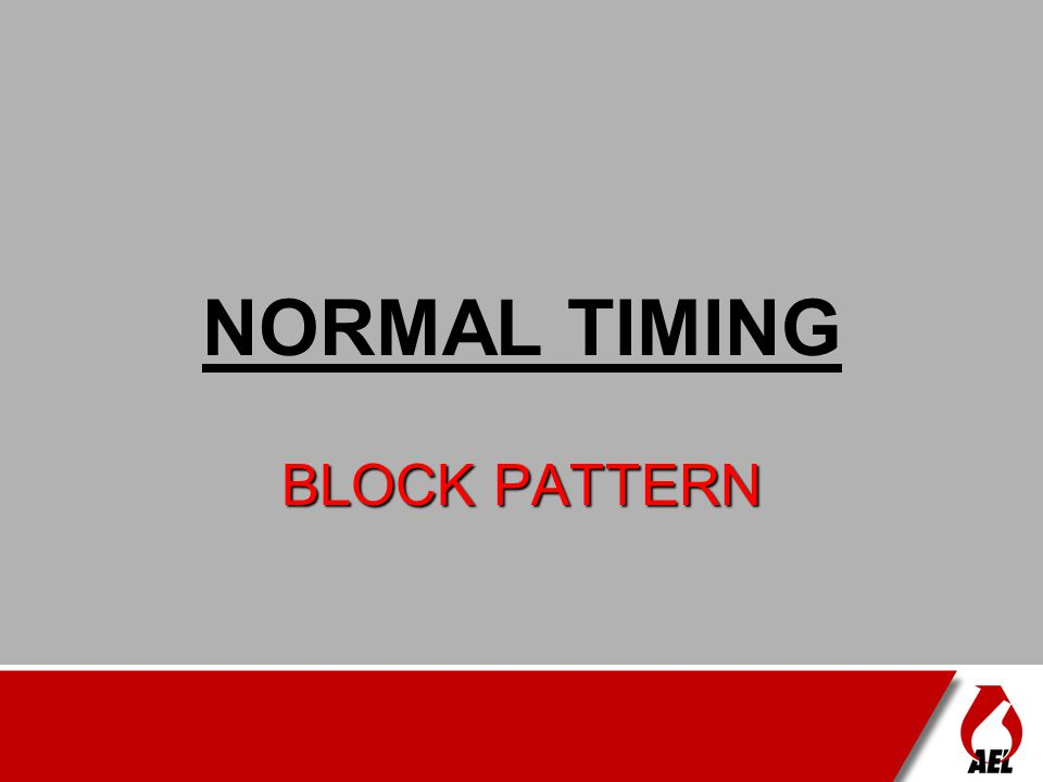 REVERSE TIMING - BLOCK PATTERN FREE FACEFREE FACE DIRECTION OF BLAST