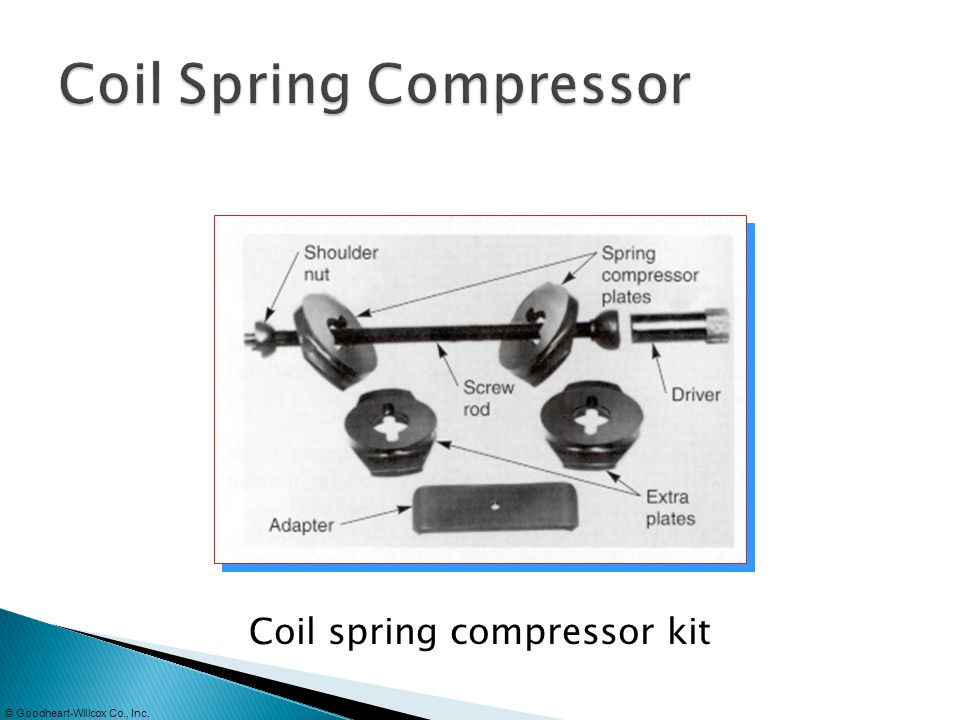 © Goodheart-Willcox Co., Inc. Coil spring compressor kit