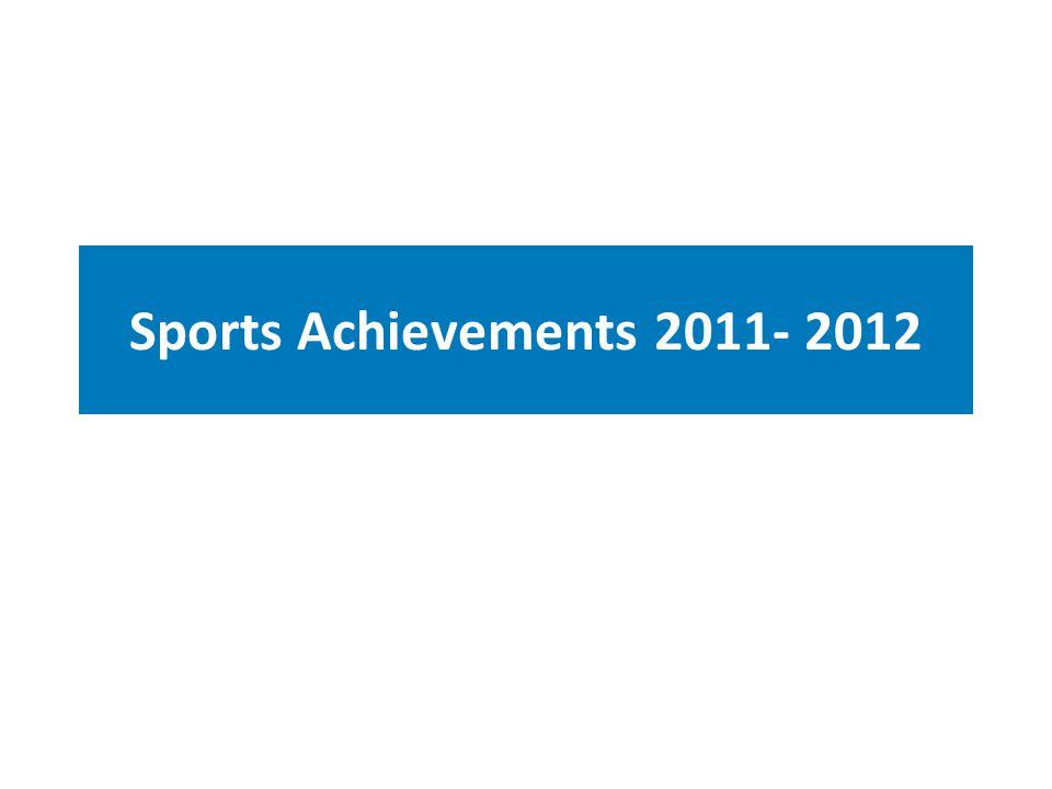 Sports Achievements 2011- 2012