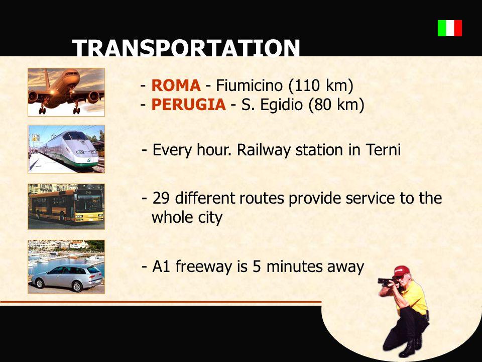 TRANSPORTATION - ROMA - Fiumicino (110 km) - PERUGIA - S.