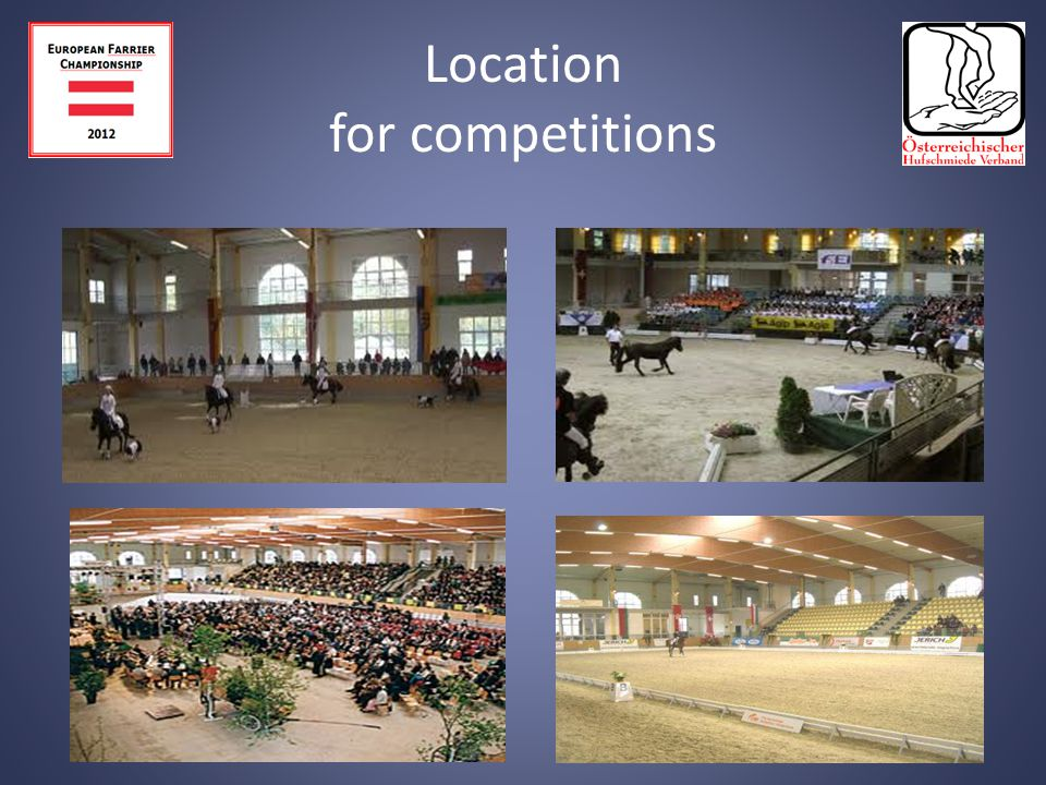 Location for competitions