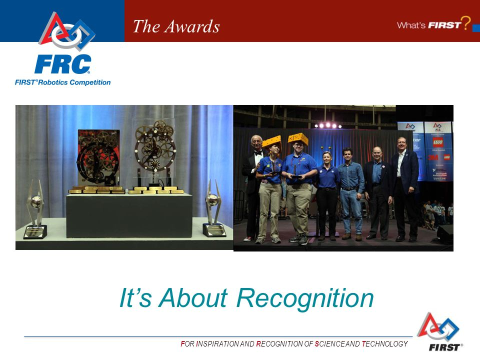 F OR I NSPIRATION AND R ECOGNITION OF S CIENCE AND T ECHNOLOGY Its About Recognition The Awards