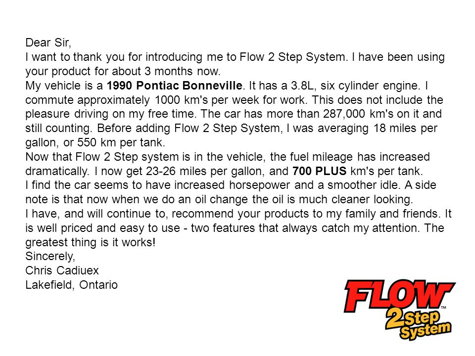 Tom Richards, Licensed Automotive Technician – 15 years I had to write you and tell you how impressed I am with the Pathfinder line of products, specifically Flow 2 Step System and your Multispray.