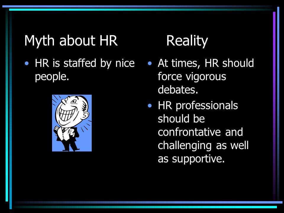 Myth about HRReality HR is HRs job.