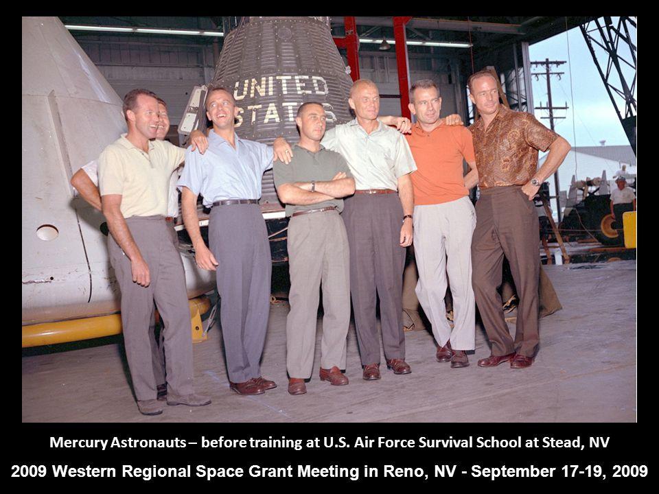 Mercury Astronauts – before training at U.S.