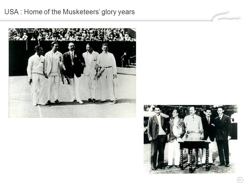 20 USA : Home of the Musketeers glory years