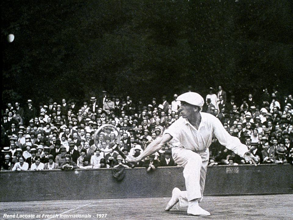 Saint Cloud, 1927 René Lacoste at French Internationals - 1927