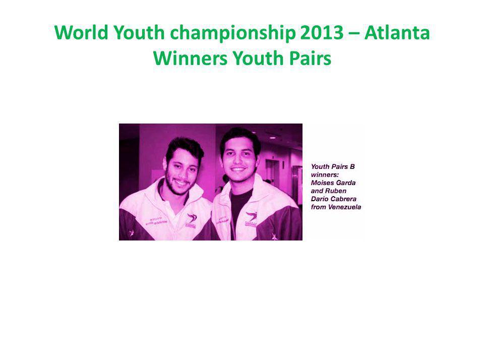 World Youth championship 2013 – Atlanta Winners Youth Pairs