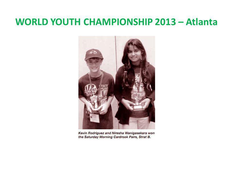 WORLD YOUTH CHAMPIONSHIP 2013 – Atlanta