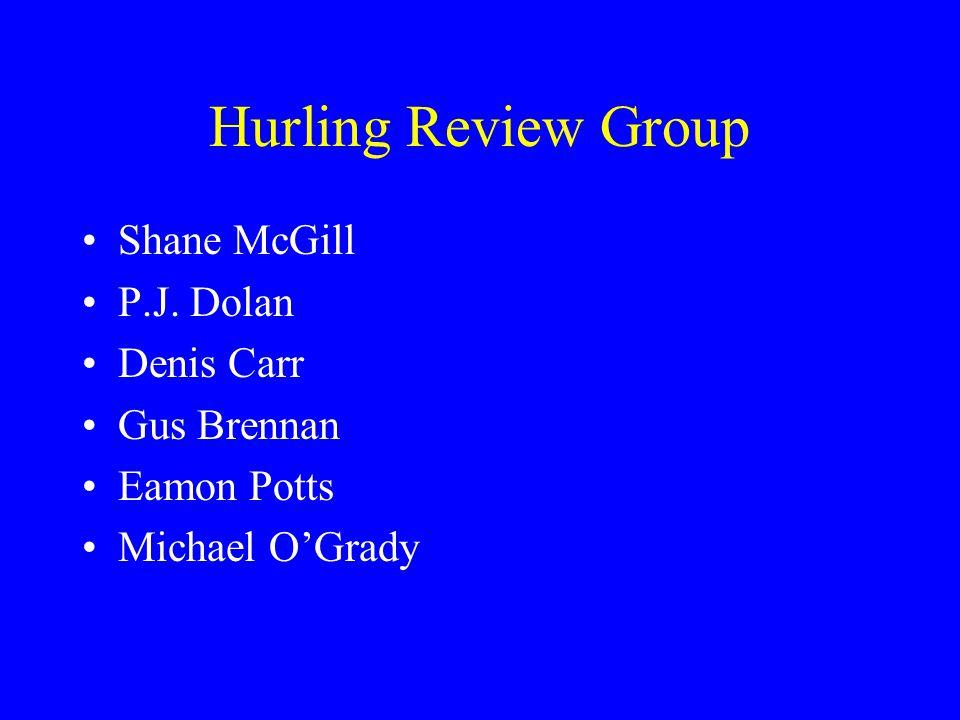 Hurling Review Group Shane McGill P.J. Dolan Denis Carr Gus Brennan Eamon Potts Michael OGrady