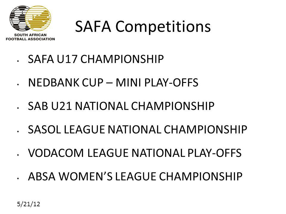 5/21/12 SAFA Community strategy SAFA has identified that the future of football in South Africa lies in building a digital community of all South Africans with an interest in any aspect of football The hub of this community will be the SAFA web site: www.safa.netwww.safa.net All football, at all levels will be administered via the web site