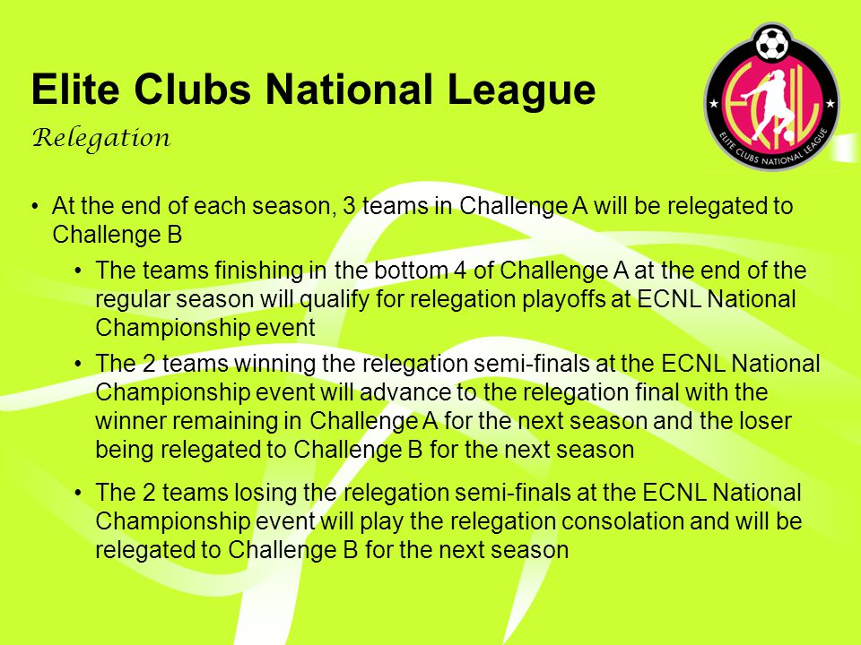 Elite Clubs National League Promotion/Relegation