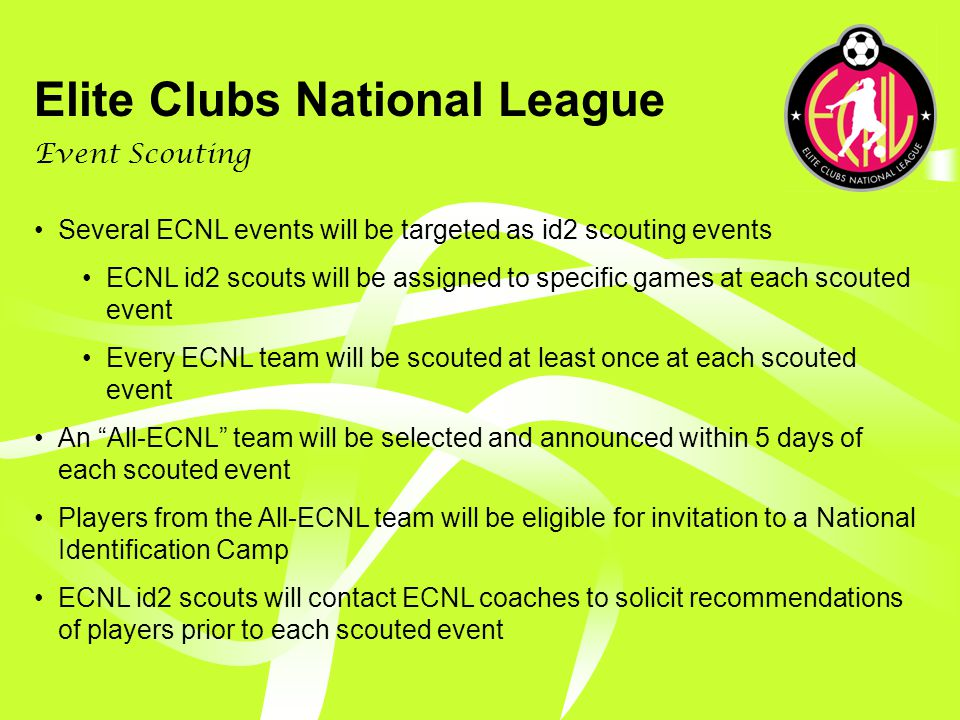 Elite Clubs National League Player Identification