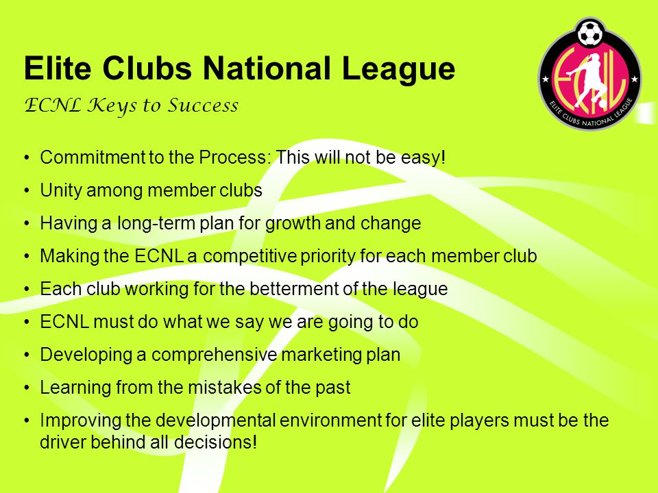 Elite Clubs National League Where we go from here…