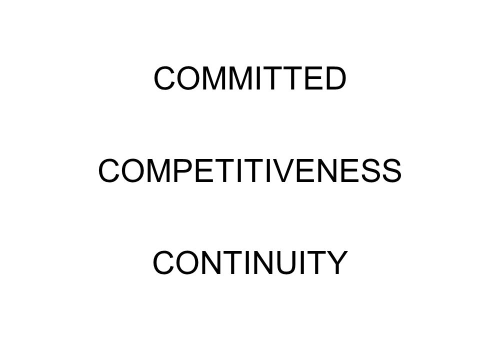 COMMITTED COMPETITIVENESS CONTINUITY