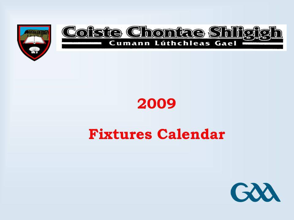 2009 Fixtures Calendar