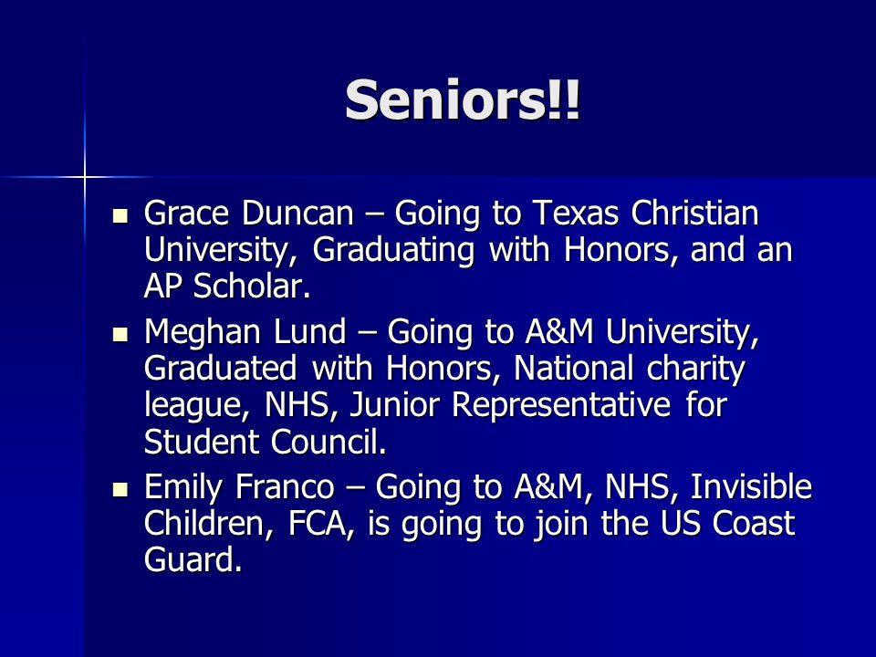 Seniors!.