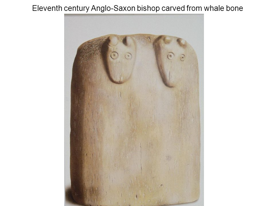 Eleventh century Anglo-Saxon bishop carved from whale bone