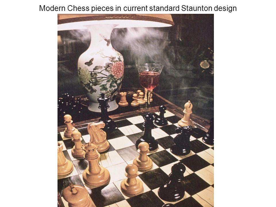 Modern Chess pieces in current standard Staunton design