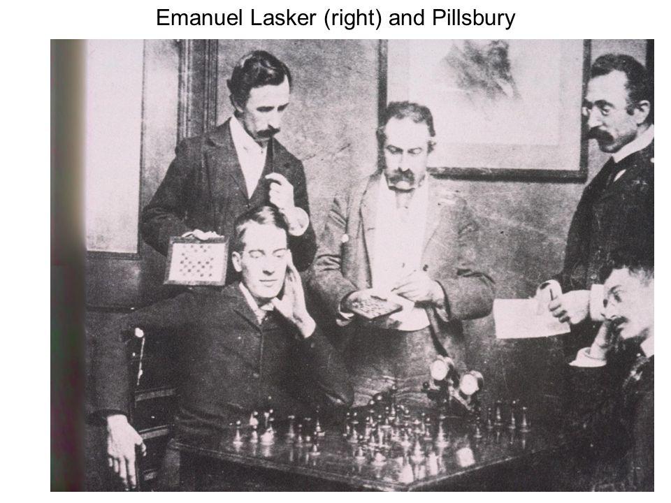 Emanuel Lasker (right) and Pillsbury