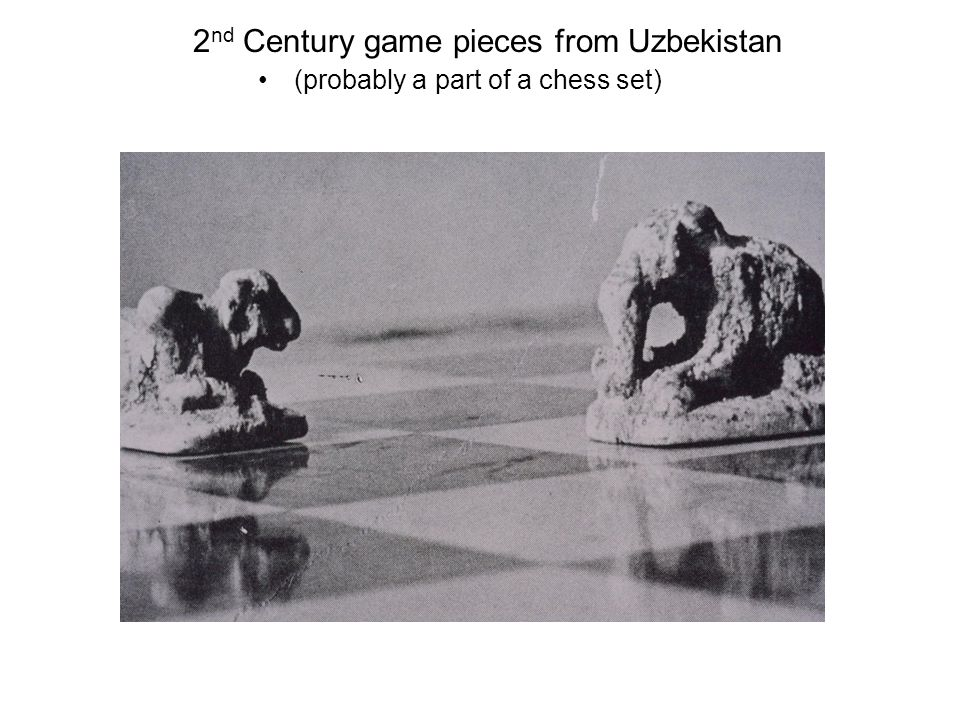 2 nd Century game pieces from Uzbekistan (probably a part of a chess set)