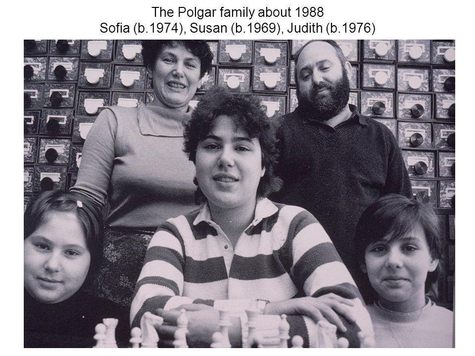 The Polgar family about 1988 Sofia (b.1974), Susan (b.1969), Judith (b.1976)