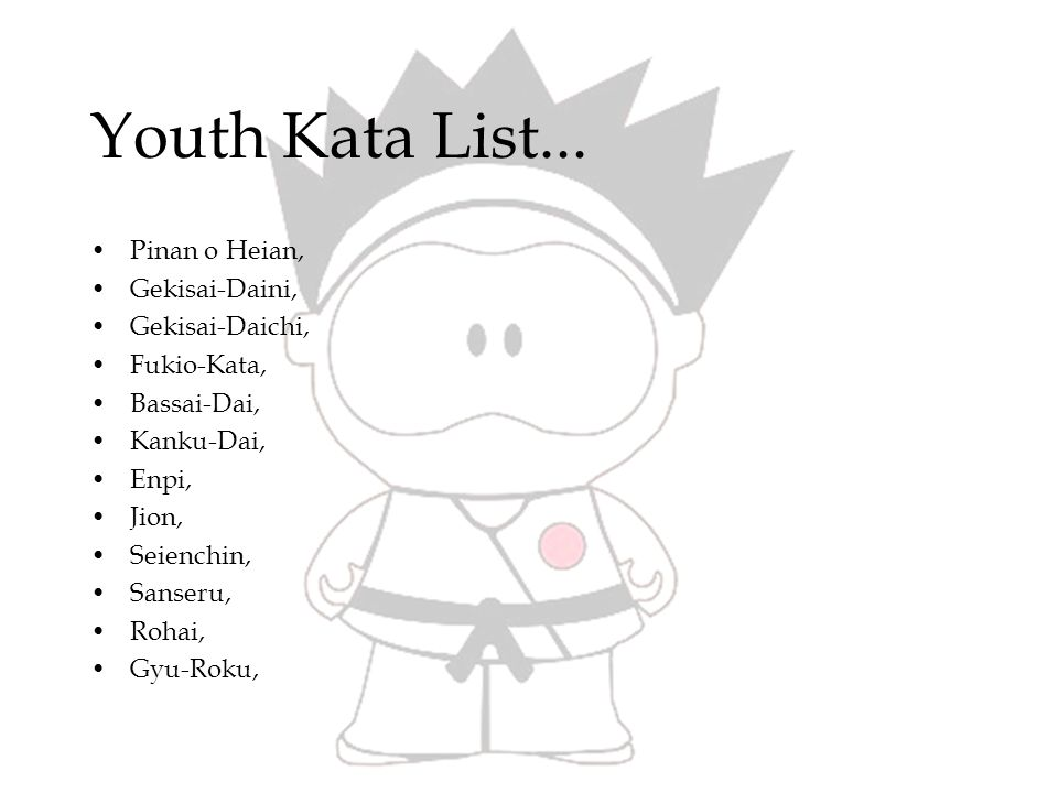 Youth Kata List...