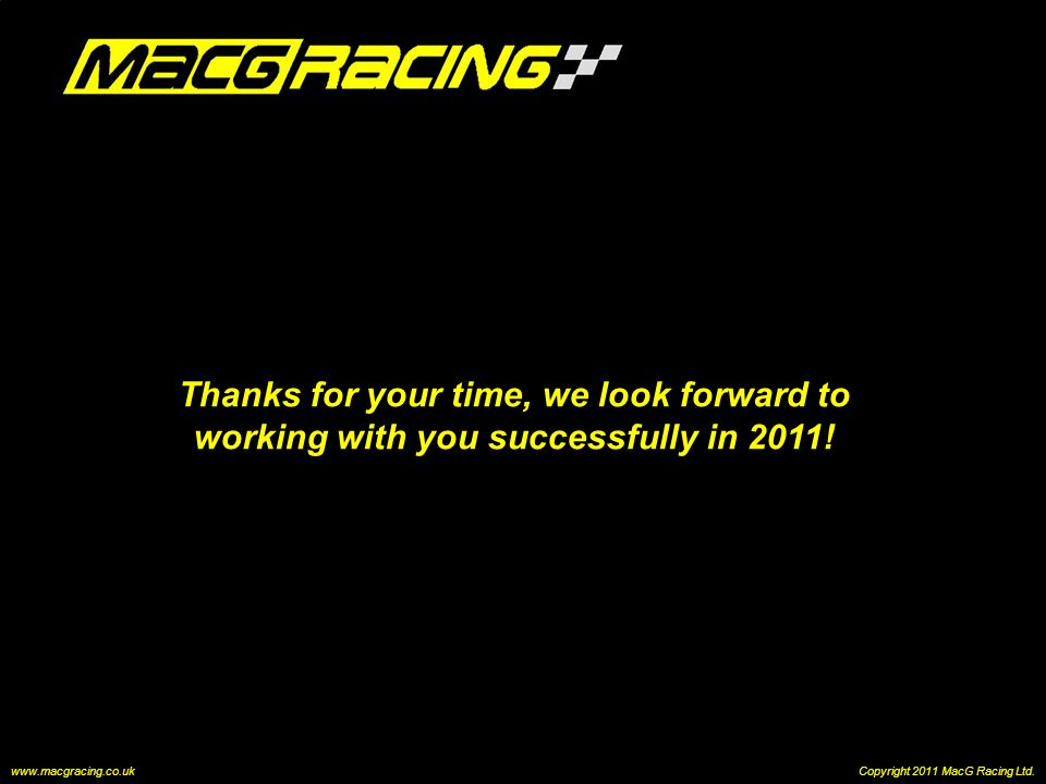 Thanks for your time, we look forward to working with you successfully in 2011.