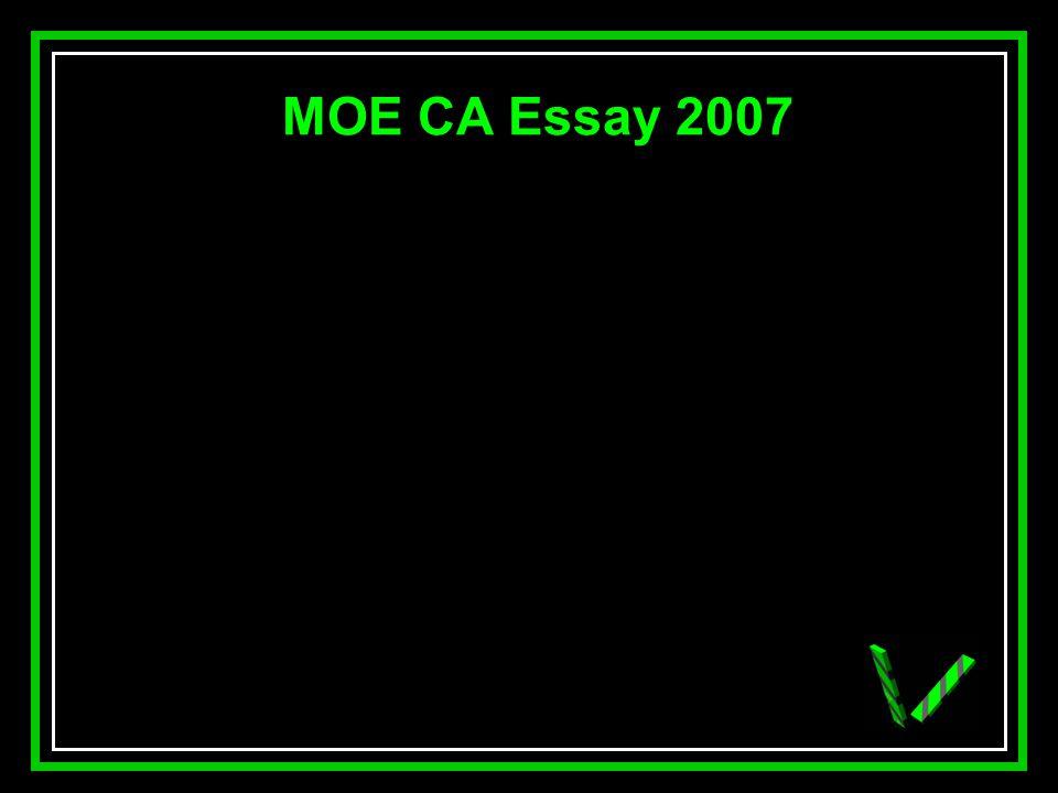 JAW MOE CA Essay 2007
