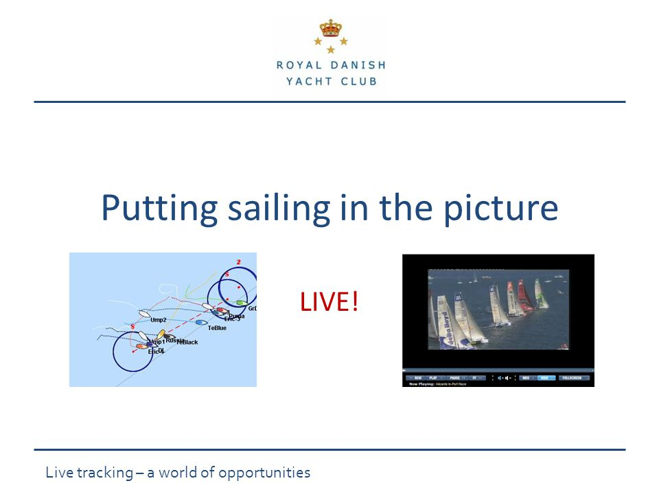 Live tracking – a world of opportunities Putting sailing in the picture LIVE!