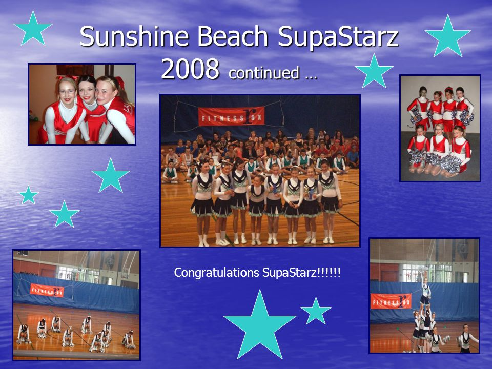 Sunshine Beach SupaStarz 2009 QLD All Schools Cheerleading Championship 1 st Place Senior Division