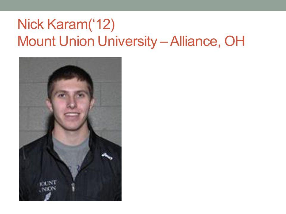 Nick Karam(12) Mount Union University – Alliance, OH