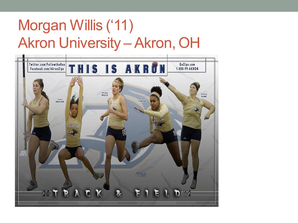 Morgan Willis (11) Akron University – Akron, OH
