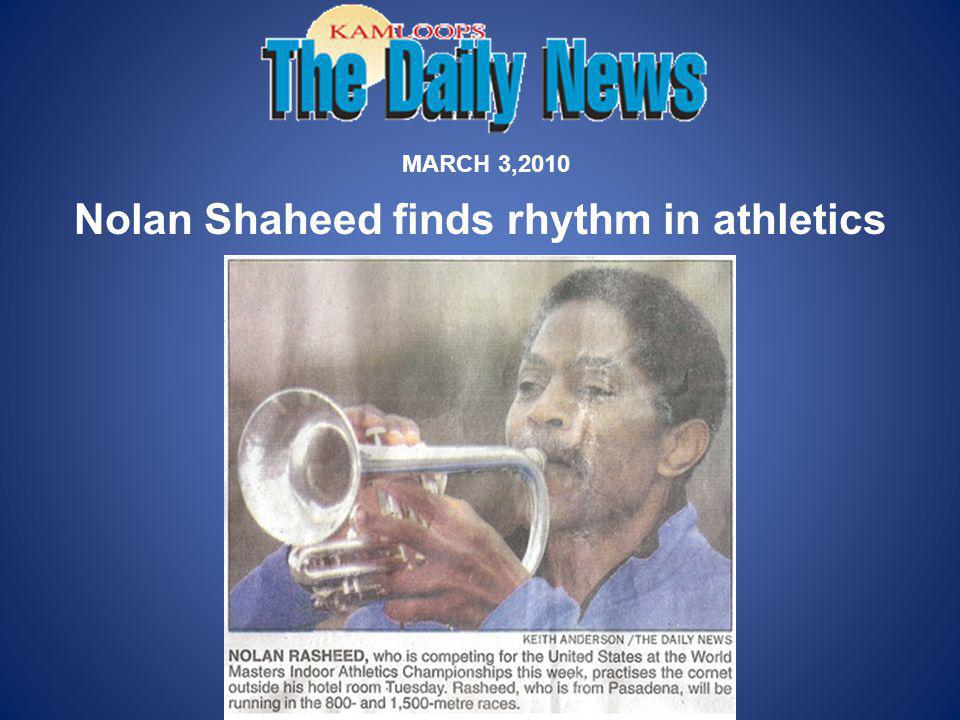 Nolan Shaheed finds rhythm in athletics MARCH 3,2010