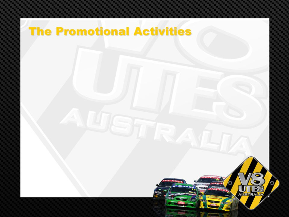 The Promotional Activities The Promotional Activities