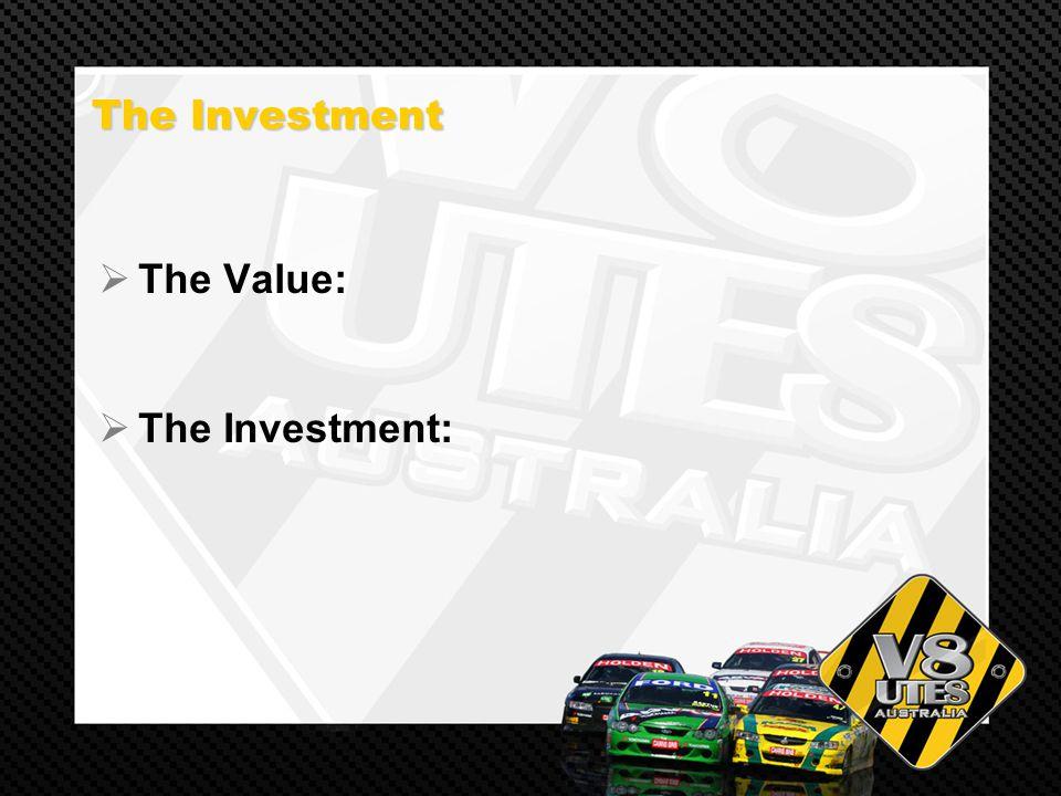 The Investment The Investment The Value: The Investment: