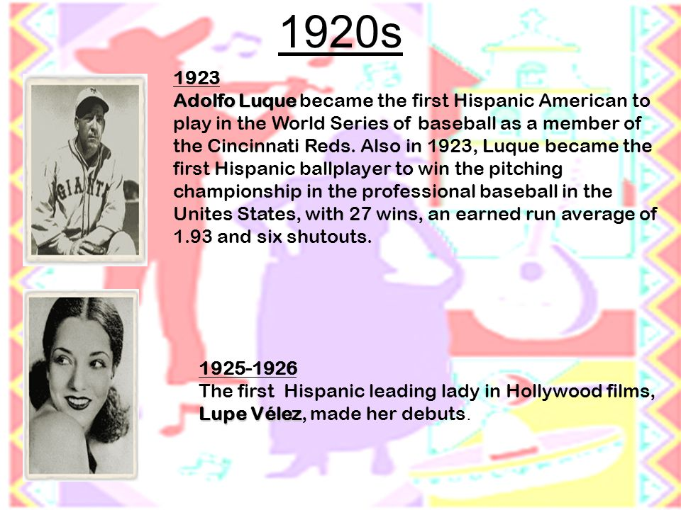 1928 Octaviano Larrazolo Octaviano Larrazolo of New Mexico was the first Hispanic to become a U.S.