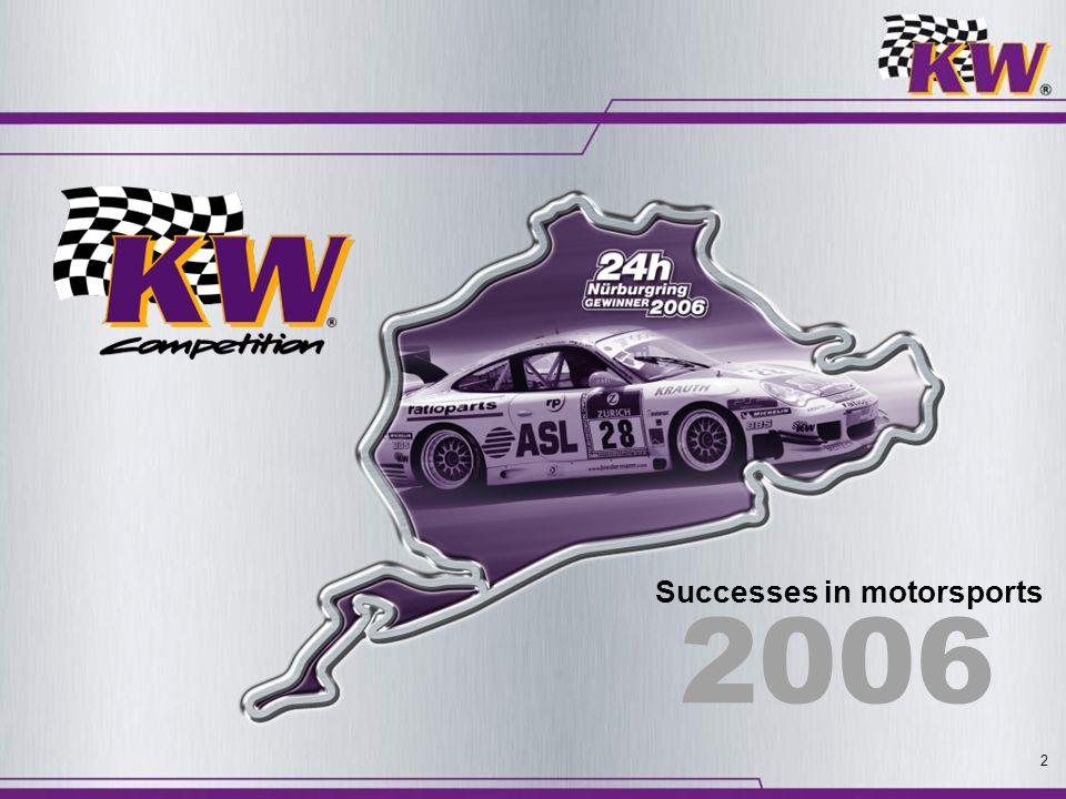 2 Successes in motorsports 2006