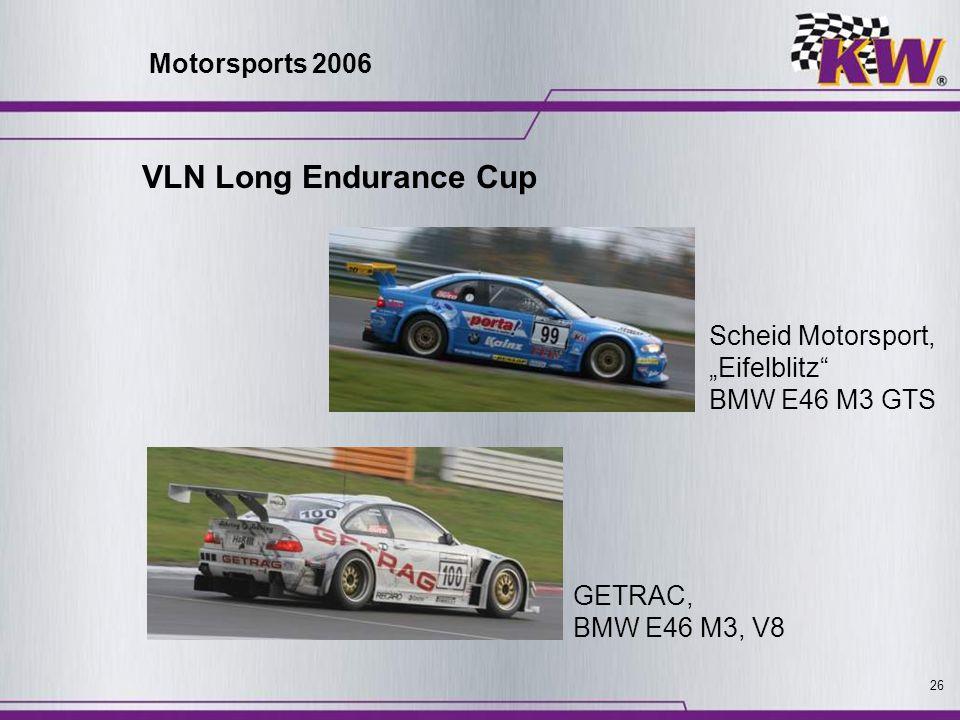 26 Scheid Motorsport, Eifelblitz BMW E46 M3 GTS GETRAC, BMW E46 M3, V8 VLN Long Endurance Cup Motorsports 2006