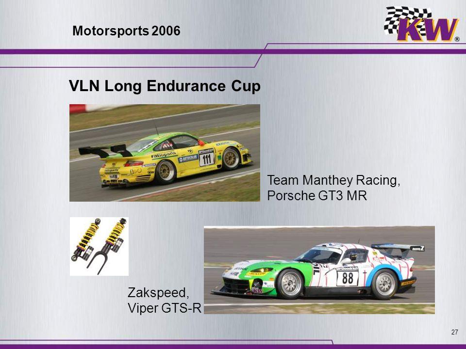 27 Team Manthey Racing, Porsche GT3 MR Zakspeed, Viper GTS-R Motorsports 2006 VLN Long Endurance Cup