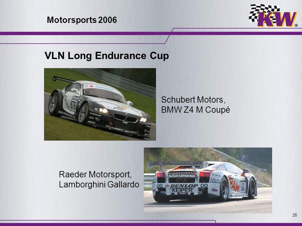 28 Schubert Motors, BMW Z4 M Coupé Raeder Motorsport, Lamborghini Gallardo Motorsports 2006 VLN Long Endurance Cup